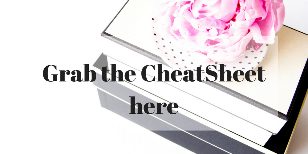 Grab the CheatSheet Here